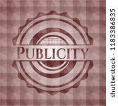 publicity red emblem with... | Shutterstock .eps vector #1183386835