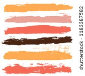 brush strokes set backgrounds.... | Shutterstock .eps vector #1183387582