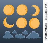 collection of moon and clouds... | Shutterstock .eps vector #1183388545
