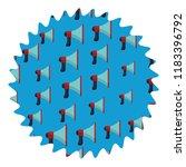 bullhorn round label | Shutterstock .eps vector #1183396792