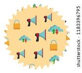 cloud bullhorn and padlock... | Shutterstock .eps vector #1183396795