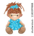 doll. rag toy. threads | Shutterstock . vector #1183399888