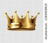 golden crown isolated... | Shutterstock . vector #1183403815