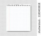 sheet of paper on transparent... | Shutterstock . vector #1183403818
