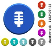 microphone round color beveled...   Shutterstock .eps vector #1183405438