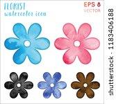 florist watercolor symbol.... | Shutterstock .eps vector #1183406188