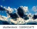 colorful dramatic sky with... | Shutterstock . vector #1183411675