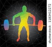 workout concept. vector... | Shutterstock .eps vector #1183412272