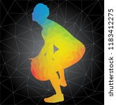 workout concept. vector... | Shutterstock .eps vector #1183412275