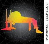 workout concept. vector... | Shutterstock .eps vector #1183412278