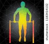workout concept. vector... | Shutterstock .eps vector #1183414132