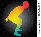 workout concept. vector... | Shutterstock .eps vector #1183414135