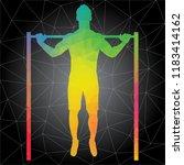 workout concept. vector... | Shutterstock .eps vector #1183414162