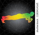 workout concept. vector... | Shutterstock .eps vector #1183414165