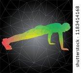 workout concept. vector... | Shutterstock .eps vector #1183414168
