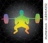 workout concept. vector...   Shutterstock .eps vector #1183414252
