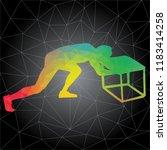 workout concept. vector... | Shutterstock .eps vector #1183414258
