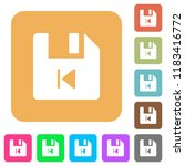 file previous flat icons on... | Shutterstock .eps vector #1183416772
