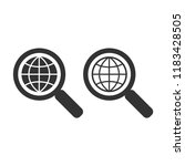 magnifier glass and globe... | Shutterstock .eps vector #1183428505