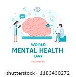 banner for world mental health... | Shutterstock .eps vector #1183430272