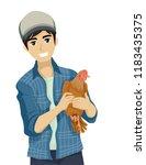 illustration of a teenage guy... | Shutterstock .eps vector #1183435375