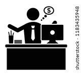 businessman having thoughts... | Shutterstock .eps vector #1183435948
