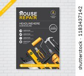 construction tools cover a4... | Shutterstock .eps vector #1183437142
