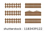 vector set of different shapes... | Shutterstock .eps vector #1183439122