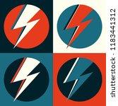 flash vector. lightning pop art ... | Shutterstock .eps vector #1183441312