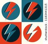 flash vector. lightning pop art ... | Shutterstock .eps vector #1183441315
