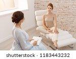 psychologist having session...   Shutterstock . vector #1183443232