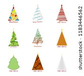 christmas tree collection.... | Shutterstock .eps vector #1183446562