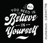 inspirational quote  motivation.... | Shutterstock .eps vector #1183447798