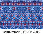 ikat pattern tribal ethnic...   Shutterstock .eps vector #1183449688