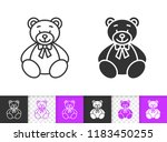 bear toy black linear and... | Shutterstock .eps vector #1183450255