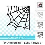 corner web thin line icon.... | Shutterstock .eps vector #1183450288