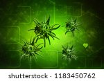 3d rendering virus bacteria... | Shutterstock . vector #1183450762
