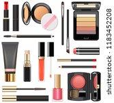 vector professional makeup... | Shutterstock .eps vector #1183452208