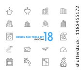 houses and tools icons.... | Shutterstock .eps vector #1183455172