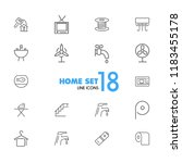 home icons. set of  line icons. ... | Shutterstock .eps vector #1183455178
