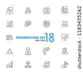 presentation icons. set of ... | Shutterstock .eps vector #1183455262