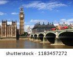 london uk   big ben clock tower ... | Shutterstock . vector #1183457272