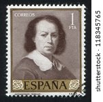 spain   circa 1960  stamp... | Shutterstock . vector #118345765
