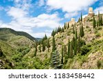 ruins of four medieval cathar... | Shutterstock . vector #1183458442