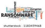 ransomware virus   compromised... | Shutterstock . vector #1183459468