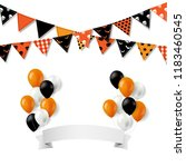 halloween bunting flags with... | Shutterstock . vector #1183460545