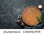 spices  herbs  cutting board... | Shutterstock . vector #1183461955