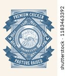 premium chicken pasture raised... | Shutterstock .eps vector #1183463392