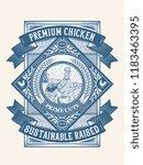 premium chicken pasture raised... | Shutterstock .eps vector #1183463395