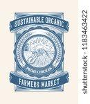sustainable organic chicken... | Shutterstock .eps vector #1183463422